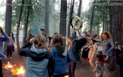 Fire Ceremony at Elements Gathering!